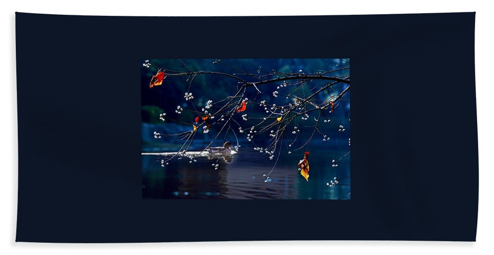 Water Hand Towel featuring the photograph Trees In Japan 5 by George Cabig