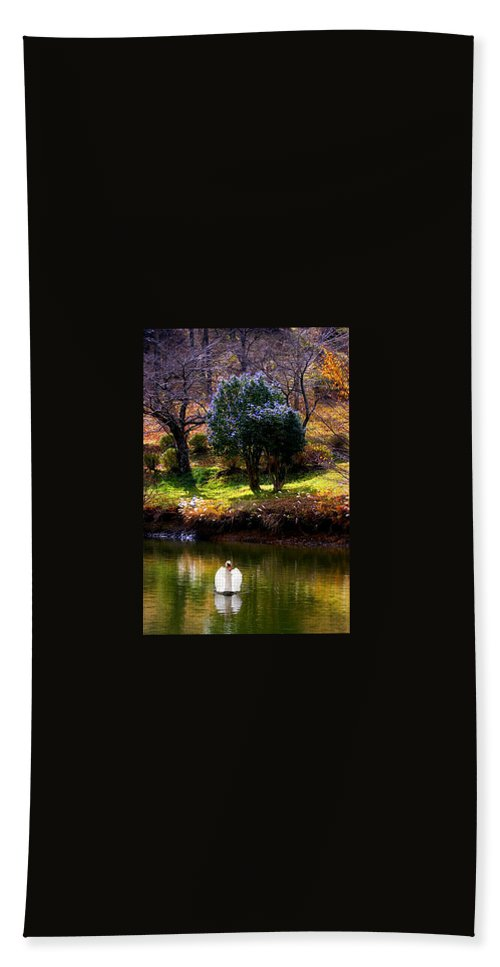 Swan Hand Towel featuring the photograph Trees In Japan 8 by George Cabig