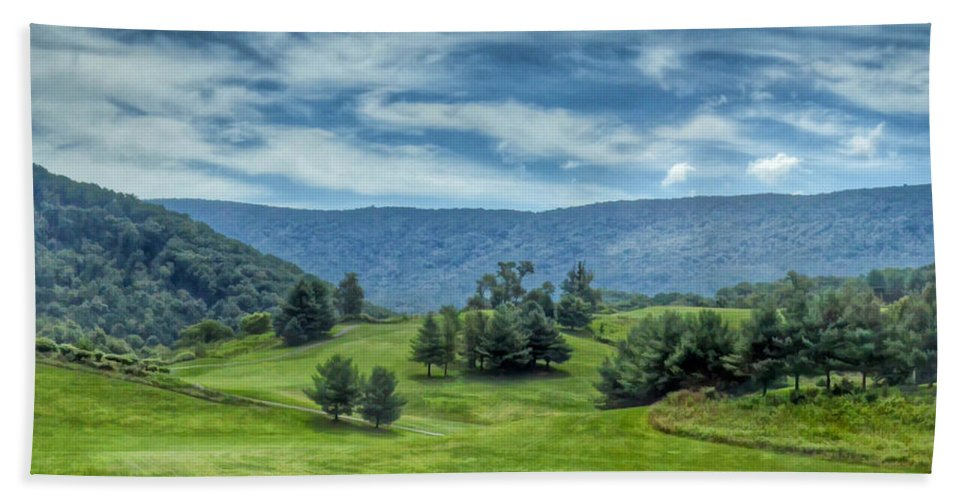 Trees Hand Towel featuring the photograph Trees In The Valley by Kerri Farley