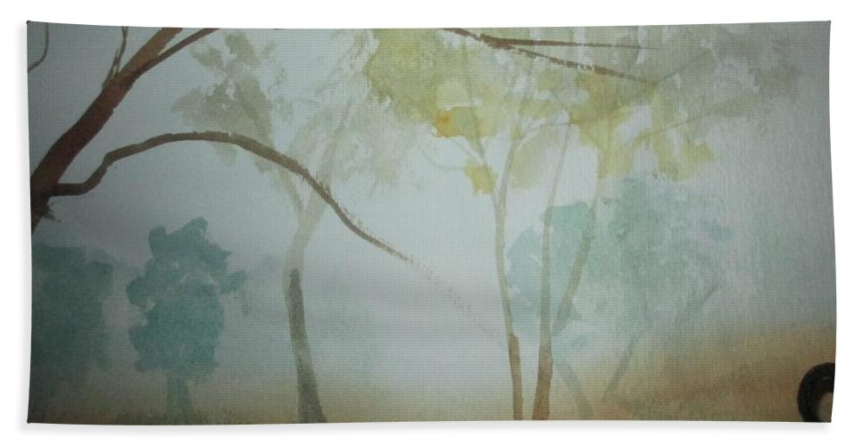 Trees Hand Towel featuring the painting Trees by Katherine Berlin