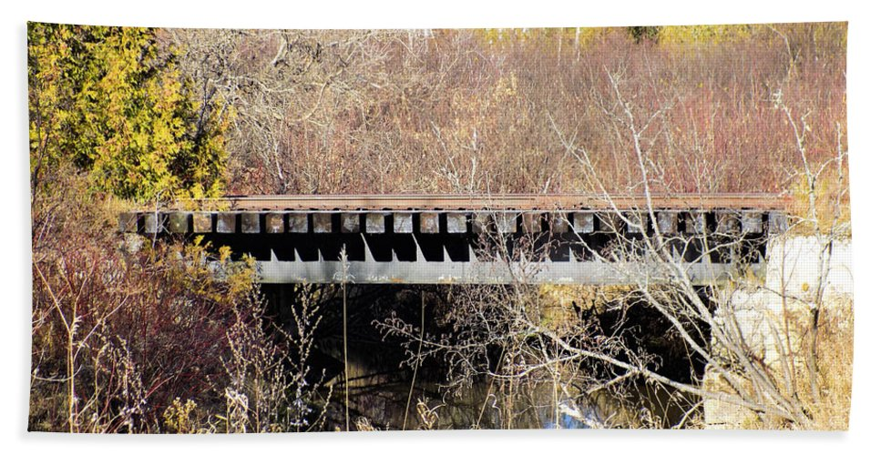 Trestle Bath Sheet featuring the photograph Trestle by William Tasker