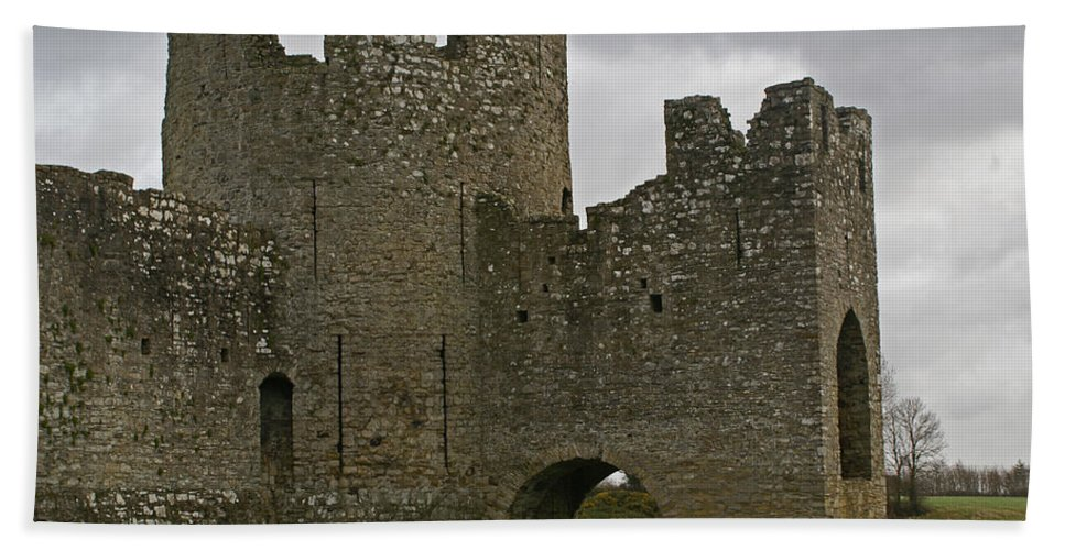 Castle Bath Sheet featuring the photograph Trim Castle, Ireland by Maria Keady