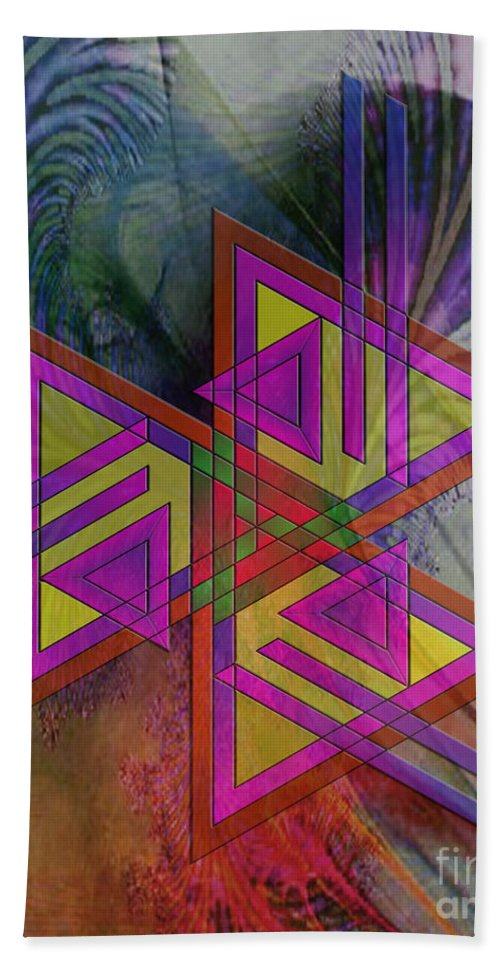 Triple Harmony Hand Towel featuring the digital art Triple Harmony by John Beck