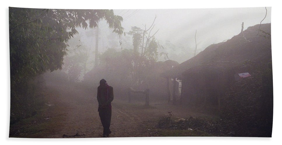 Nepal Hand Towel featuring the photograph Tristesse by Patrick Klauss