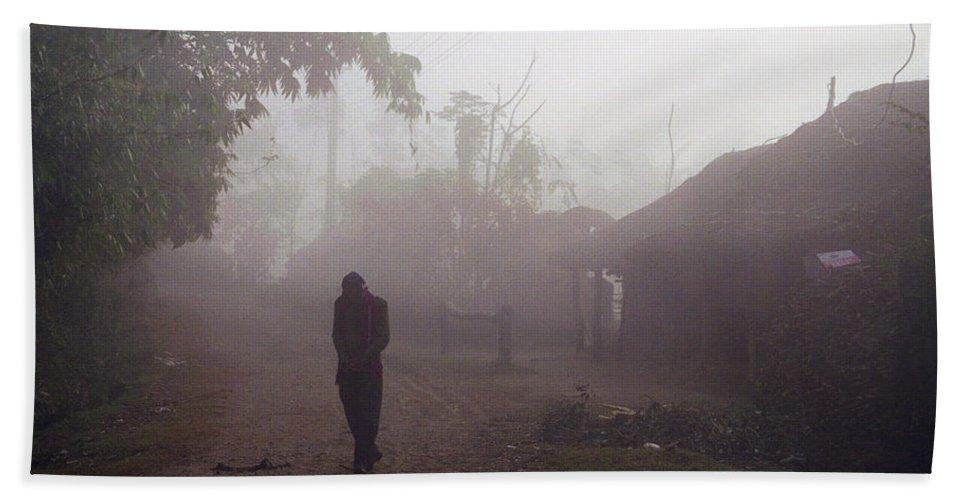 Nepal Bath Towel featuring the photograph Tristesse by Patrick Klauss