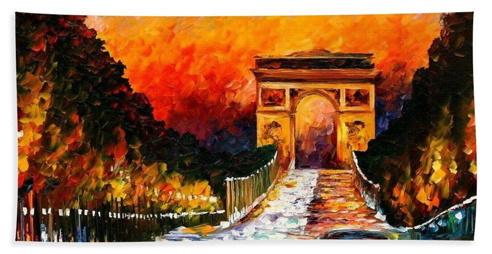 Afremov Bath Sheet featuring the painting Triumph by Leonid Afremov