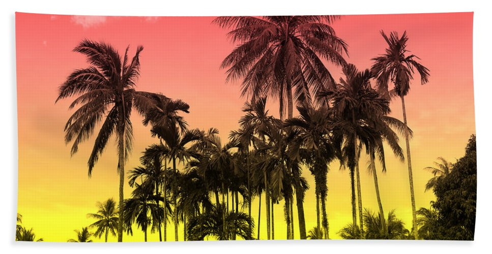 Hand Towel featuring the photograph Tropical 9 by Mark Ashkenazi