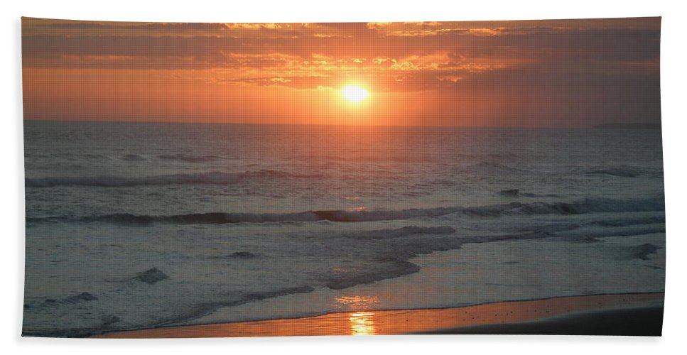Bali Bath Sheet featuring the photograph Tropical Bali Sunset by Mark Sellers