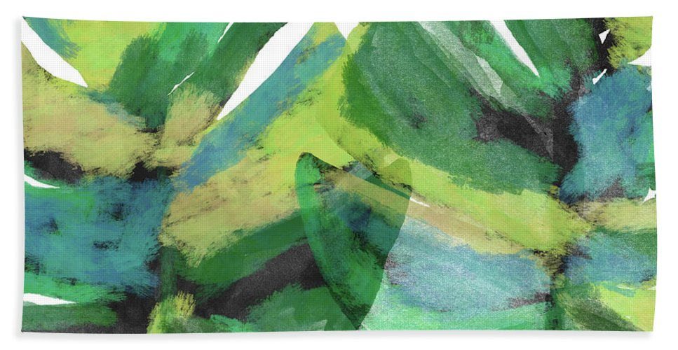 Tropical Hand Towel featuring the mixed media Tropical Dreams 1- Art by Linda Woods by Linda Woods