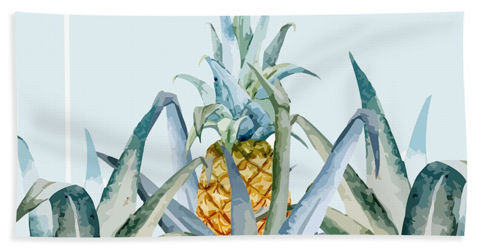 Summer Hand Towel featuring the painting Tropical Feeling by Mark Ashkenazi