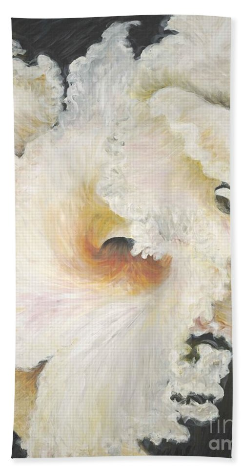 Flower Bath Sheet featuring the painting Tropical Flowers by Nadine Rippelmeyer
