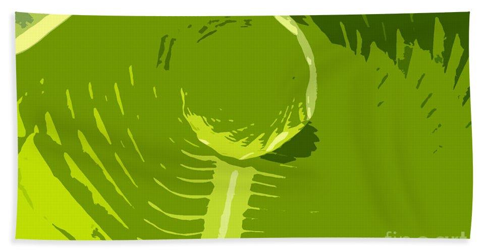 Green Bath Sheet featuring the digital art Tropical Green by David Lee Thompson