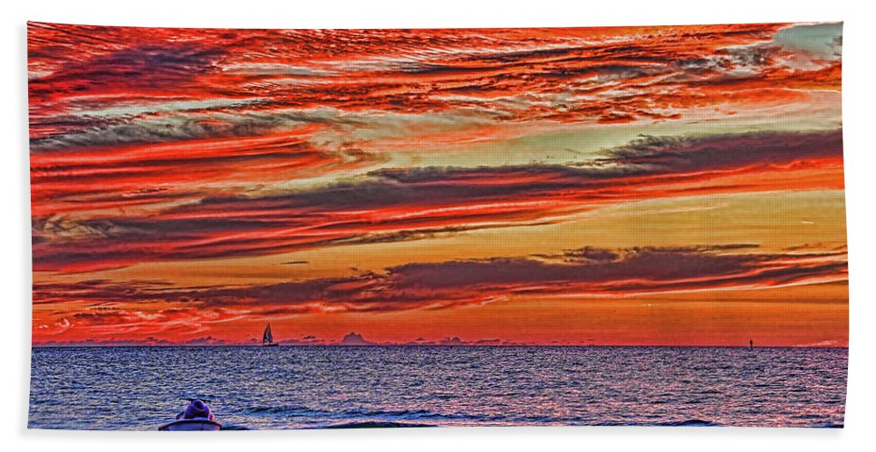 Gulf Of Mexico Hand Towel featuring the photograph Tropical Gulf Nights by HH Photography of Florida