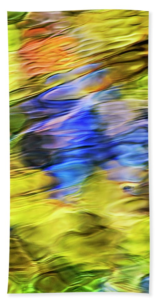 Tropical Hand Towel featuring the photograph Tropical Mosaic Abstract Art by Christina Rollo