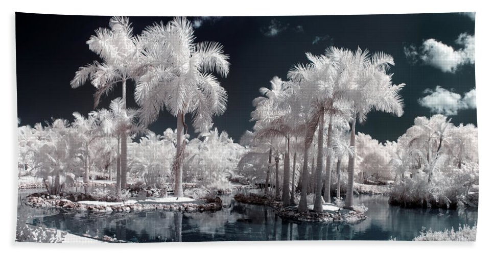 3scape Photos Hand Towel featuring the photograph Tropical Paradise Infrared by Adam Romanowicz