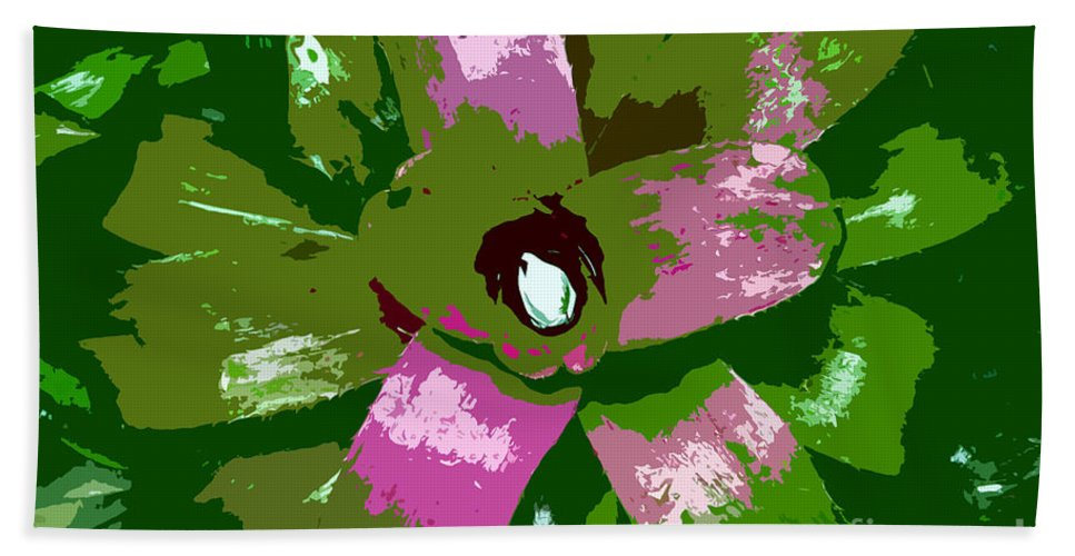 Tropical Hand Towel featuring the photograph Tropical Plant Work Number 5 by David Lee Thompson