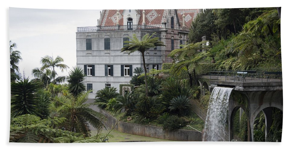 Funchal Bath Sheet featuring the photograph Tropican Monte Palace Garden, Madeira, Portugal. by Compuinfoto