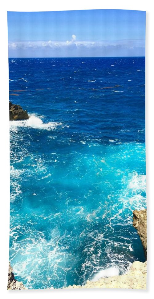 Guadeloupe Hand Towel featuring the photograph Trou Madame Coco, Grande Terre, Guadeloupe by Cristina Stefan