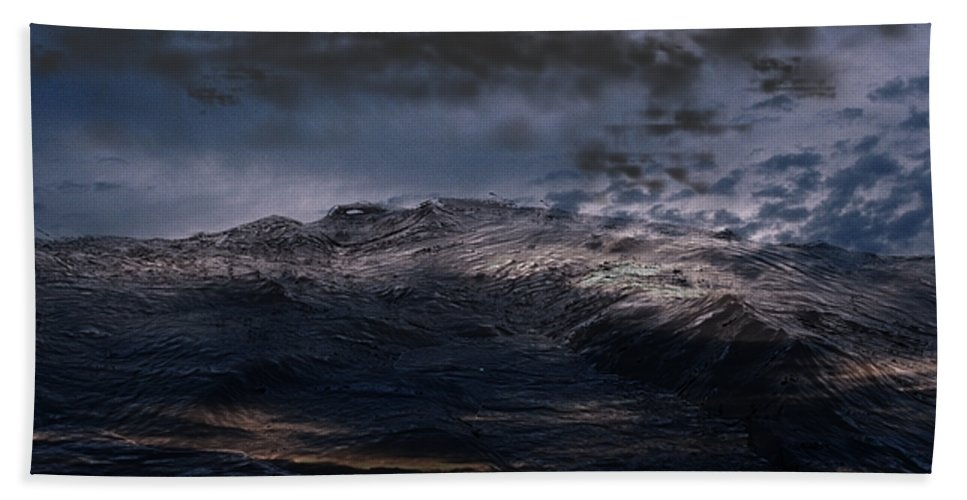 3ds Max Hand Towel featuring the digital art Troubled Waters by James Barnes