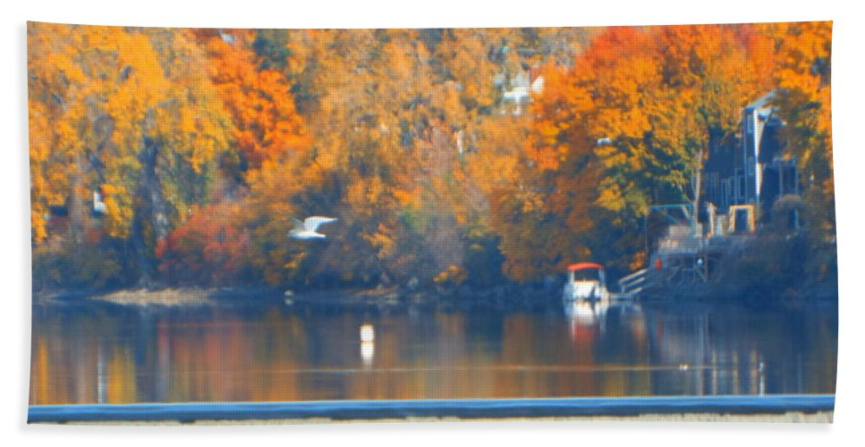 Rivers Bath Sheet featuring the photograph Troy Lock by Jeffery L Bowers