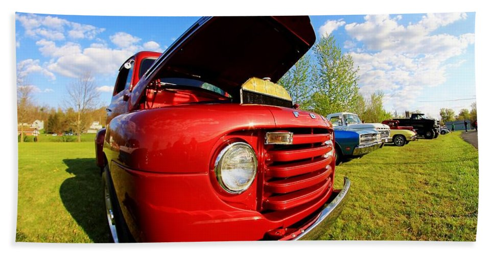Cars Hand Towel featuring the photograph Truck Headlight by Karl Rose