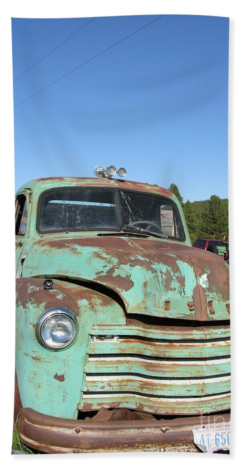 Truck Hand Towel featuring the photograph Truck Montana by Diane Greco-Lesser