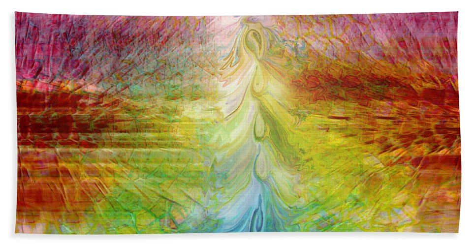 Digital Art Bath Sheet featuring the digital art True Colors by Linda Sannuti