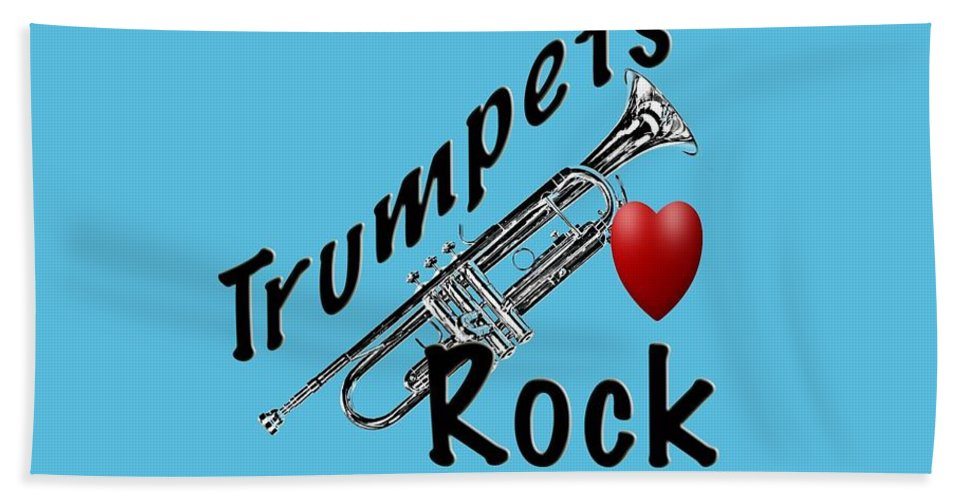 Trumpet Hand Towel featuring the photograph Trumpets Rock by M K Miller