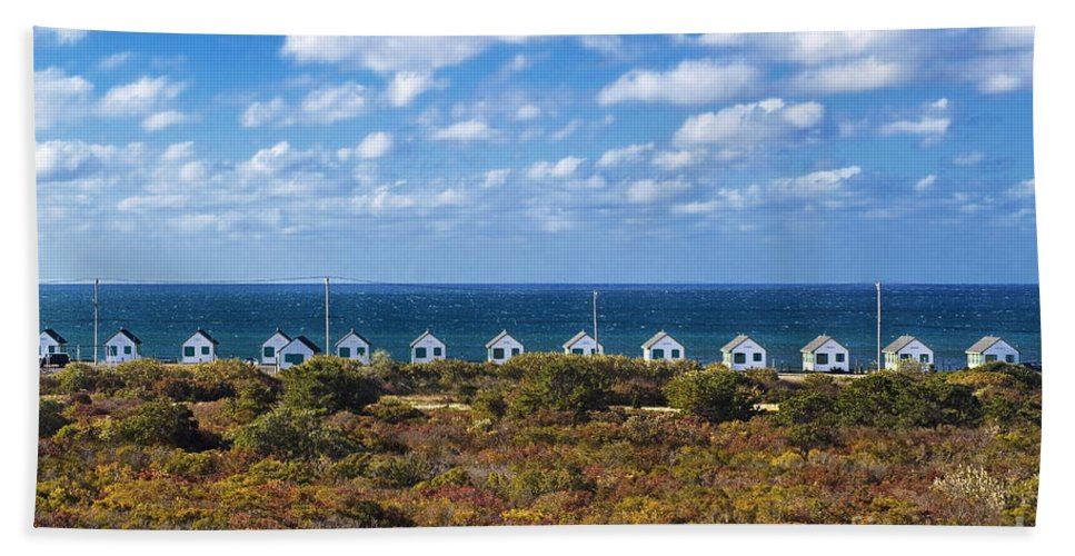 Cape Cod Hand Towel featuring the photograph Truro Cottages by John Greim