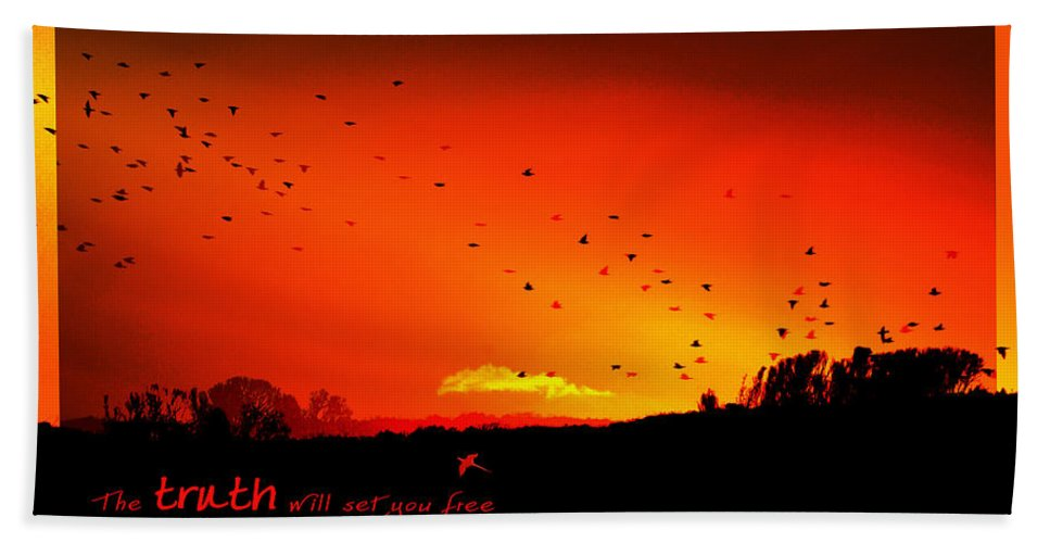 Landscape Bath Towel featuring the photograph Truth by Holly Kempe