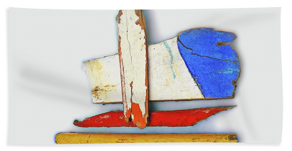 Sculpture Hand Towel featuring the painting Tsunami De Stijl by Charles Stuart