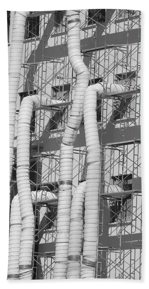 Tubes Bath Towel featuring the photograph Tube Construction by Rob Hans