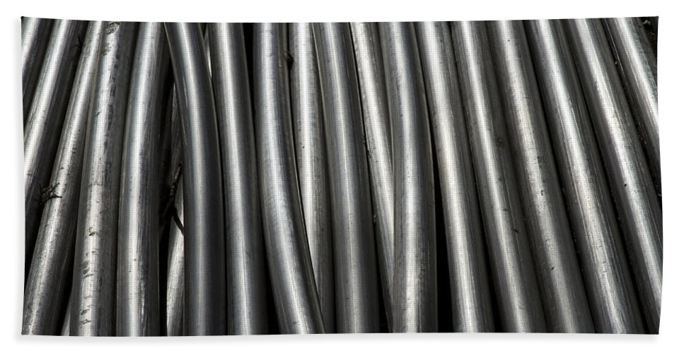 Tubes Hand Towel featuring the photograph Tubular Abstract Art Number 11 by James BO Insogna