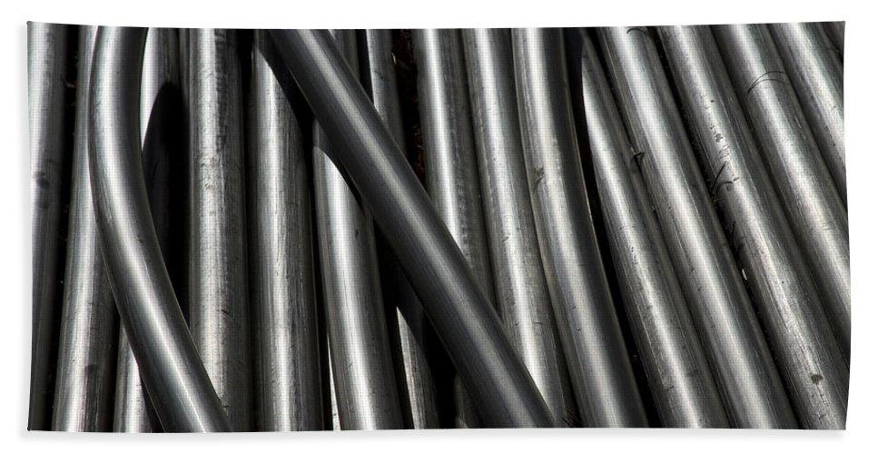 Tubes Hand Towel featuring the photograph Tubular Abstract Art Number 14 by James BO Insogna