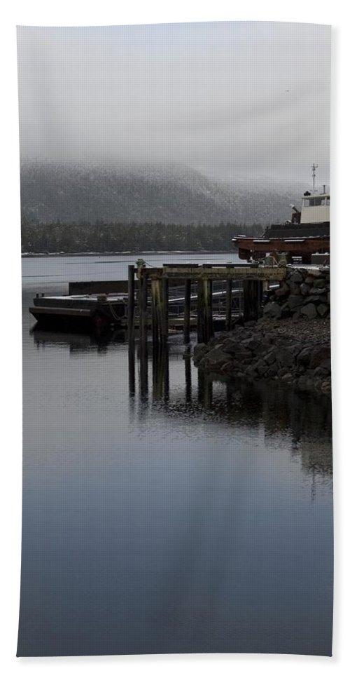 Ocean Bath Sheet featuring the photograph Tug Boat by Sara Stevenson