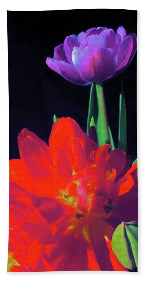 Flowers Bath Sheet featuring the photograph Tulip 15 by Pamela Cooper