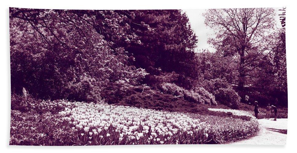 Tulips Bath Sheet featuring the photograph Tulip Beds by Deborah Jackson