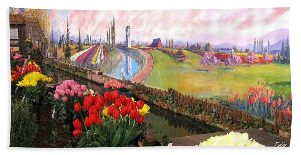 Agriculture Bath Sheet featuring the photograph Tulip Town 21 by Will Borden