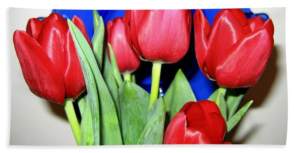 Tulips Hand Towel featuring the photograph Tulipfest 1 by Will Borden