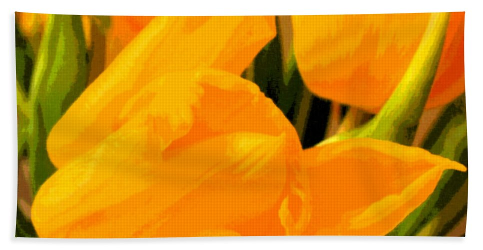 Tulip Hand Towel featuring the photograph Tulips by Amanda Barcon