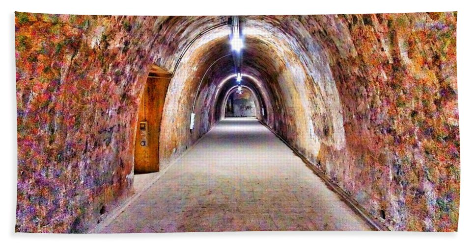 Color Hand Towel featuring the photograph Tunnel by Darko Horvatic