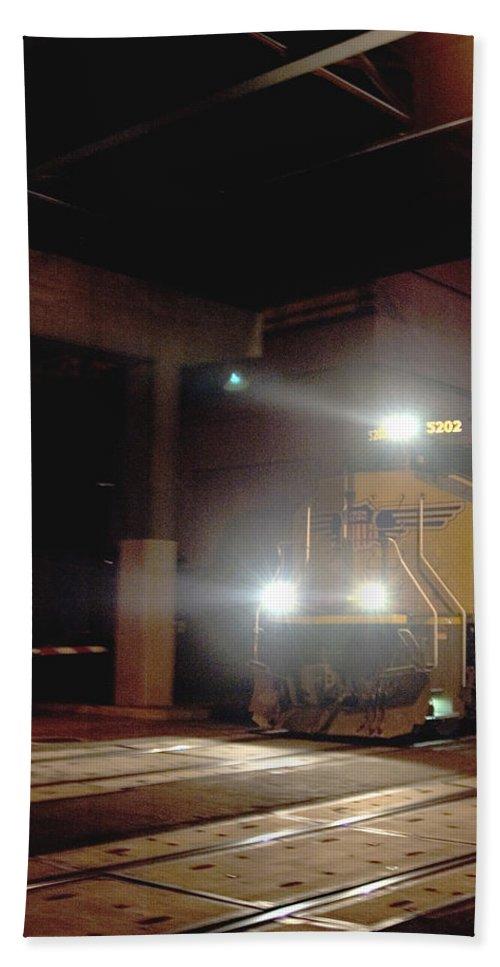 Train Hand Towel featuring the photograph Tunnel Light by Sara Stevenson