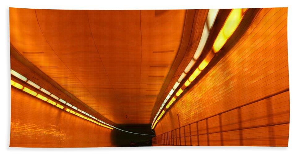 Tunnel Bath Towel featuring the photograph Tunnel by Linda Sannuti