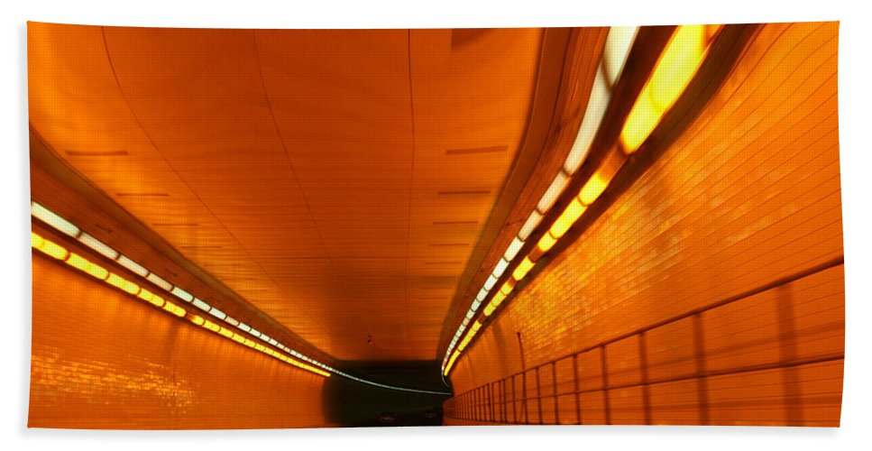 Tunnel Bath Sheet featuring the photograph Tunnel by Linda Sannuti