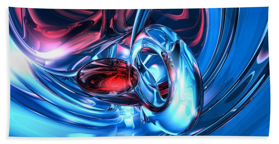 3d Hand Towel featuring the digital art Tunnel Lust Abstract by Alexander Butler