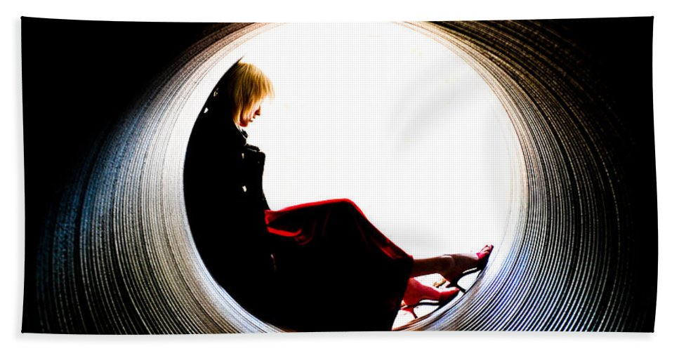 Woman Bath Sheet featuring the photograph Tunnel by Scott Sawyer