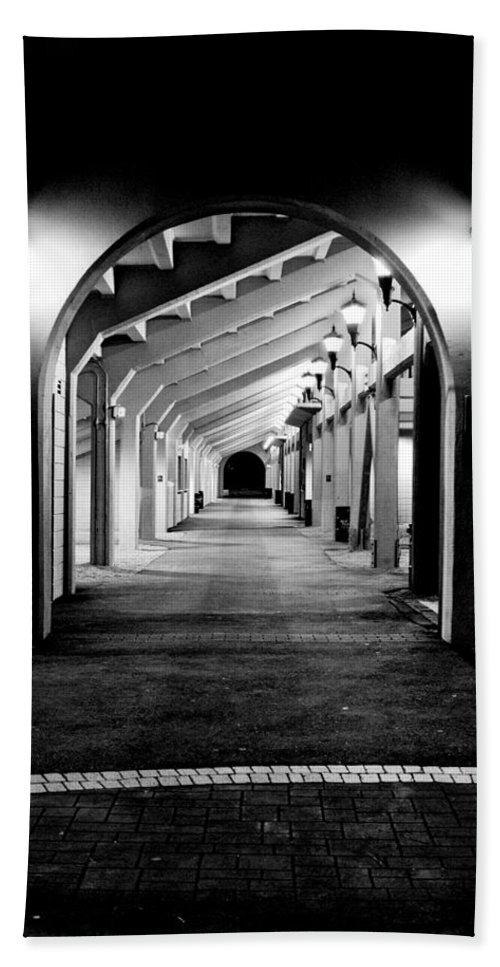 Perspective Bath Sheet featuring the photograph Tunnel Vision by Greg Fortier