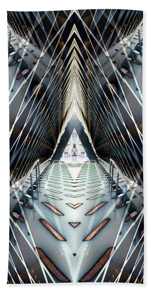 Seattle Hand Towel featuring the digital art Tunnels End by Tim Allen