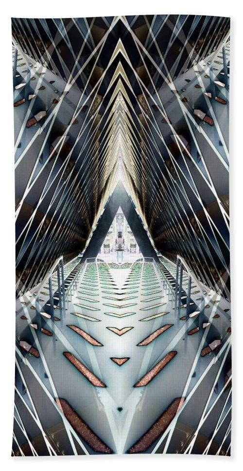Seattle Bath Sheet featuring the digital art Tunnels End by Tim Allen