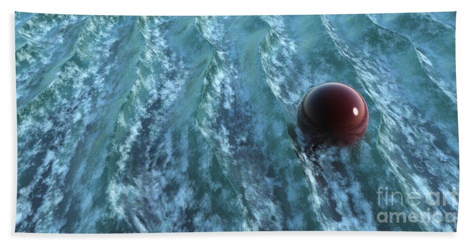 Waves Hand Towel featuring the digital art Turbulence by Richard Rizzo